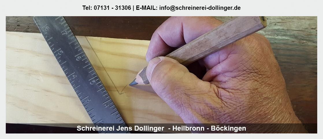 Möbelschreinerei für Güglingen - Schreinerei Jens Dollinger: Schrank mit Schräge, Treppensanierung, Einbauschränke
