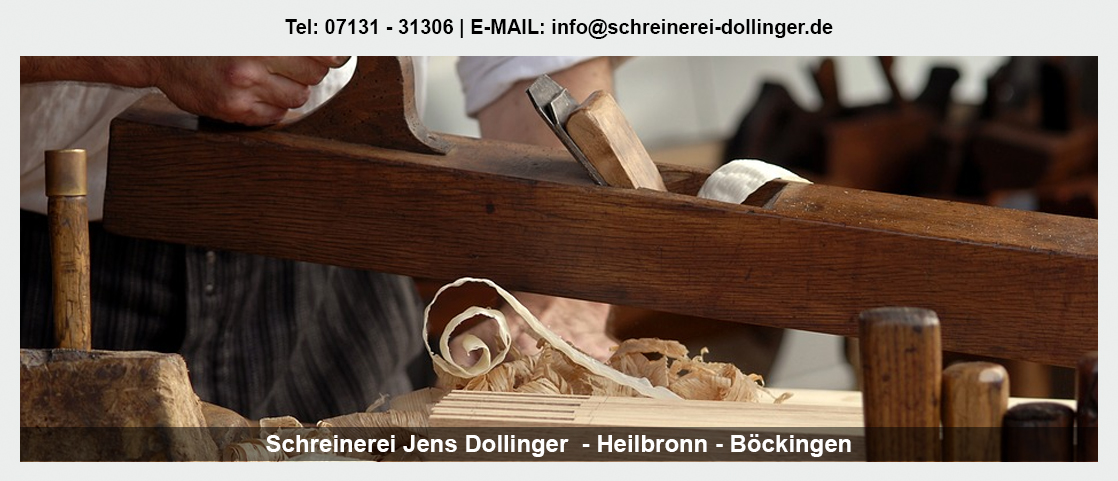 Möbel nach Maß in Maulbronn - Schreinerei Jens Dollinger: Holztreppe, Holztüren, Badmöbel